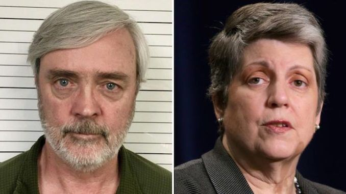 An air force deserter who has been on the most wanted fugitive list for 35 years has finally been found working for Democrat Janet Napolitano.