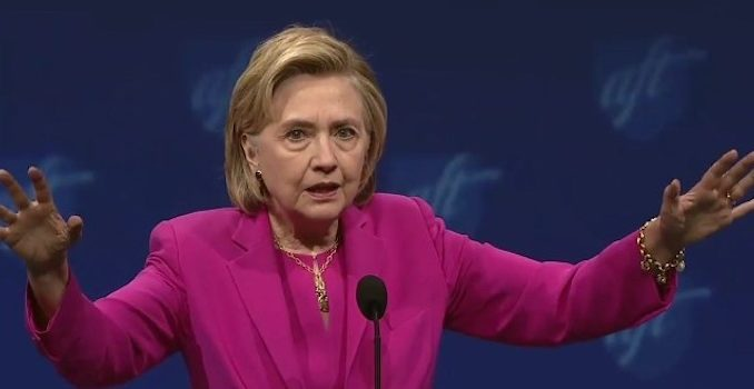 Hillary Clinton acusses Trump of ripping the heart ouf of America