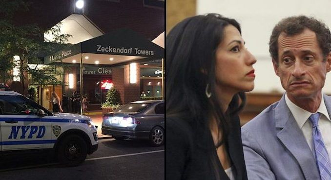 A dead body has been found at the home of Hillary Clinton's top aide Huma Abedin and her husband, the disgraced formerCongressman, Anthony Weiner.