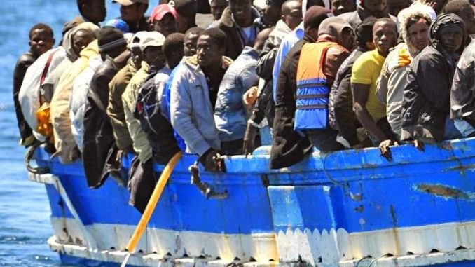 The Italian government rescued the crew of a private ship that saved 67 migrants from drowning after the migrants threatened to behead them.