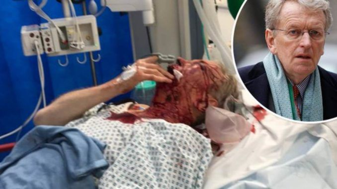British Ambasaddor fights for his life after being attacked by anti-Trump activists