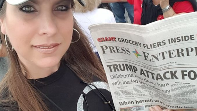 Kate Mazzochetti, a brave follower of QAnon, helped foil an assassination attempt against Donald Trump in Wilkes Barre, Pennsylvania on Thursday.