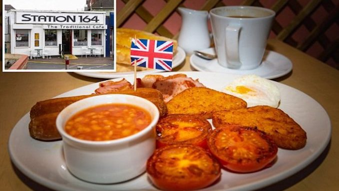 London cafe attacked for being 'racist' after it displayed union jack flags