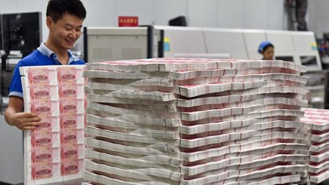 China begins printing currencies for foreign nations, including Europe