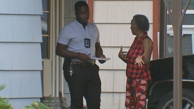A Texas grandmother shot a man outside of her home in Houston's south side after he exposed himself to her and her 14-year-old granddaughter.