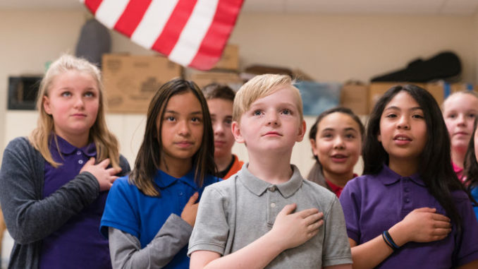 """A school in Atlanta has announced it will no longer recite the Pledge of Allegiance as part of its morning meeting agenda, claiming that the Pledge is not """"inclusive"""" or """"positive"""" enough."""