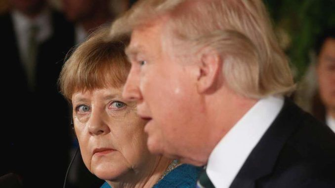 German chancellor Angela Merkel vows to save New World Order from Donald Trump