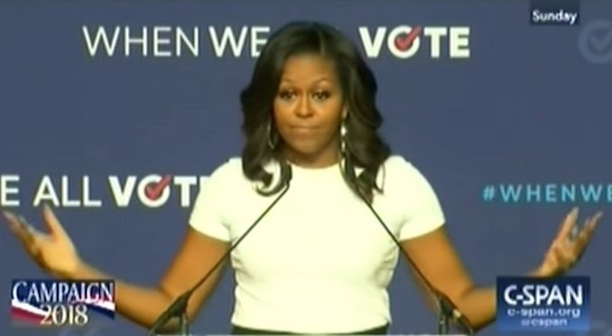 Michelle Obama encourages ignorant people to get out and vote