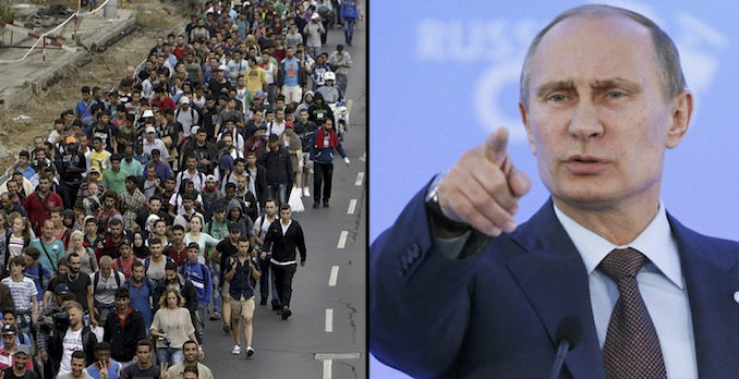 The European Union only has itself to blame for the migrant crisis plaguing the continent, according to Russian President Vladimir Putin.