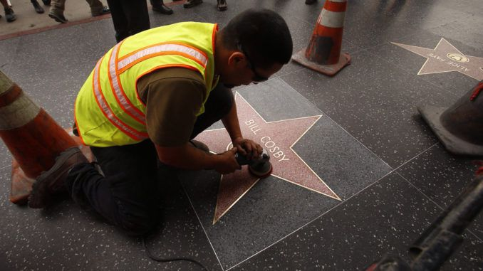 Hollywood officials decide to preserve Bill Cosby's walk of fame star after his sentencing Tuesday