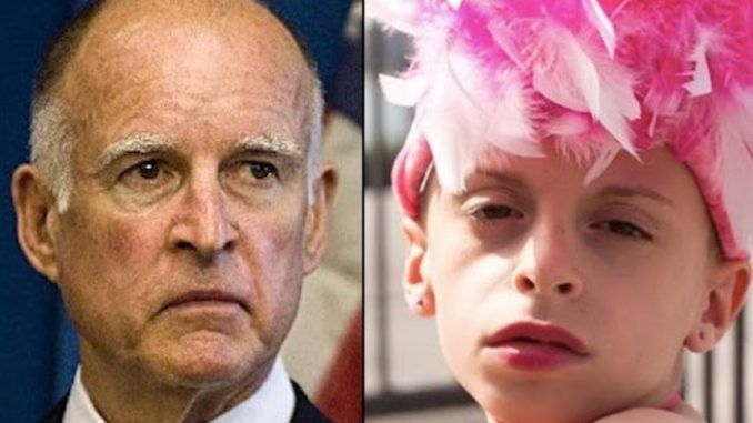 Children as young as 12-years-old are eligible to undergo sex change surgery on the public dime in California, thanks to a law enacted in Gov. Jerry Brown's increasingly barbaric state.