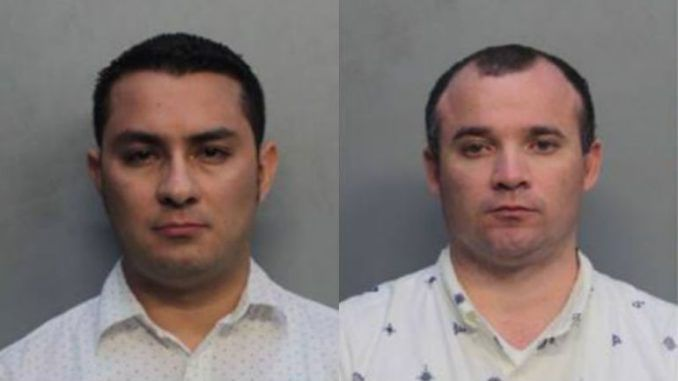 Two Catholic priests have been charged with lewd and lascivious behavior after being caught engaging in public sex in Miami, Florida.