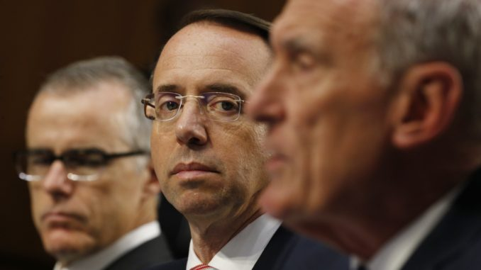 Rosenstein, Comey, Yates And McCabe face prosecution over FISA court deception