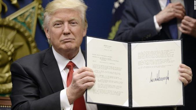 President Trump has laid the groundwork to block migrants from receiving visas or green cards if they cannot speak English to a proficient level.