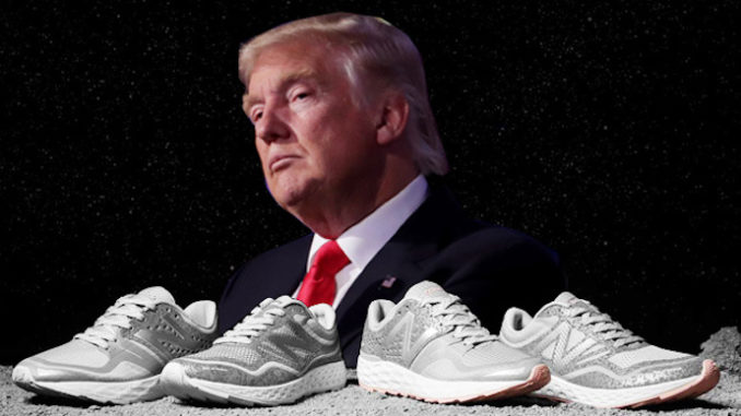 New Balance VP tweets support of President Trump's American-made ethos.