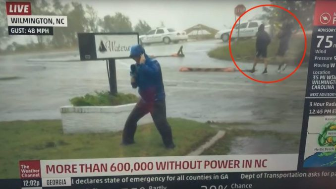 CNN have a challenger for the title of World's Fakest News Broadcast with The Weather Channel outdoing themselves in the deception department during Friday's hurricane coverage.
