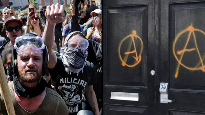 Antifa have stormed the Republican headquarters in New York City, leaving a note referencing Hillary Clinton's call for the end of civility.