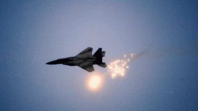 Israeli jets have dropped several bombs on Gaza in response to rocket fire