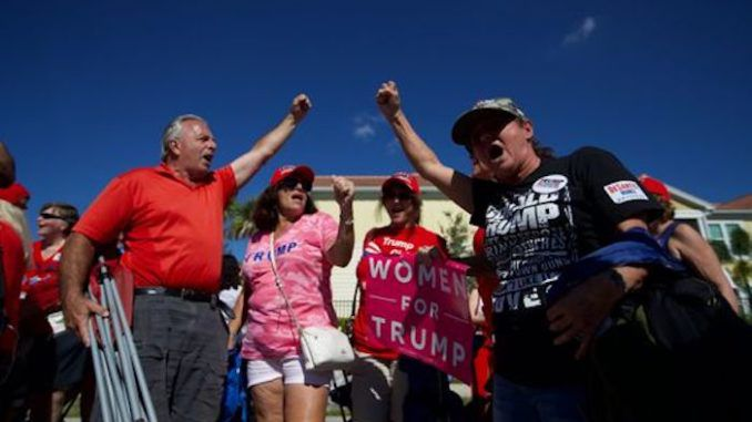 Many employers in Florida's south-west are giving staff the day off Wednesday so they can make the pilgrimage to Hertz Arena on Halloween night to see President Trump at his Make America Great Again rally.