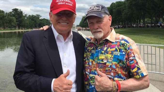 """Beach Boys singer Mike Love recently told a story thatflies in the face of what is perhaps the political left's favorite narrative; namely, that President Trump is a """"racist."""""""