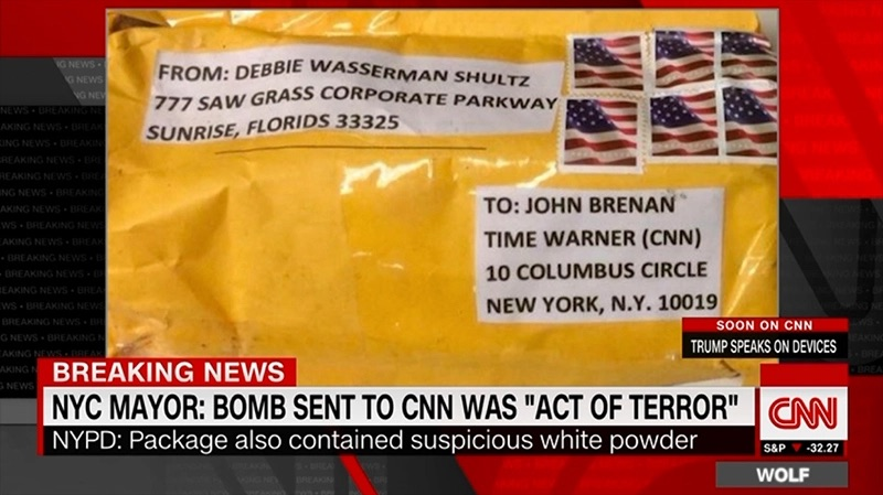 Other Users On Twitter Questioned Whether A Sticker Clearly Containing Black And White ISIS Markings Meant The Bomb Was Mailed By Terror Group
