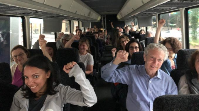 Leaked audio proves that socialist activists from New York City are being bussed around the state to campaign in conservative parts of New York State, despite denials by the Democrats.