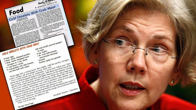"Democratic Senator Elizabeth Warren is in hot water after allegations have surfaced that she plagiarized her "" family Cherokee"" recipes in the cook book ""Pow Wow Chow"" from the New York Times and other publications."