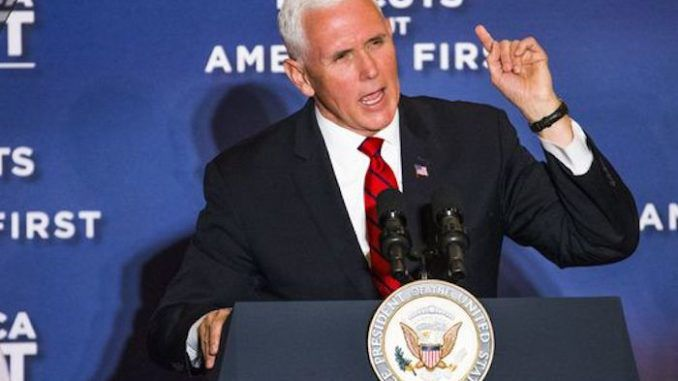 VP Mike Pence says migrant caravans funded by far-left organizations