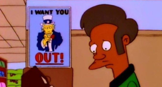 The Simpsons to ditch Apu due to liberal outrage