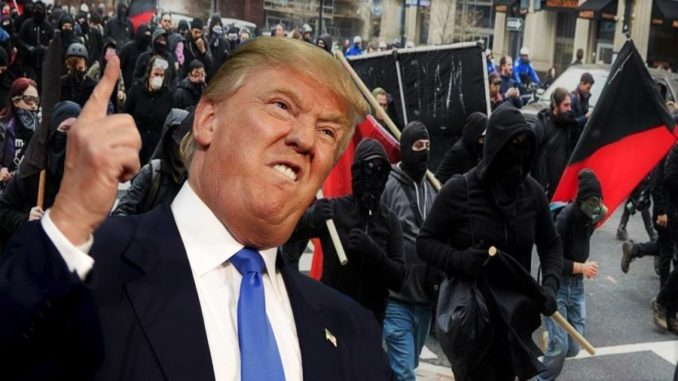 """President Donald Trump has sounded a warning to Antifa members and violent leftists across the country, putting them on notice that the military and police are getting """"angrier and angrier"""" at their violent threats."""