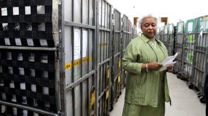 The Florida official overseeing the Florida recount destroyed ballots and is accused of allowing dead voters to be included