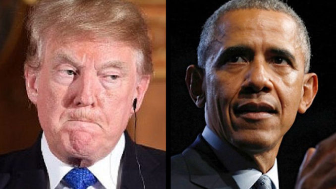 "Trump has slammed Obama and his administration for ""spying"" on his campaign, claiming that the crimes committed may be considered ""treason."""