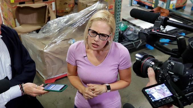 Democrat Kyrsten Sinema, Arizona's newly elected first female Senator, fought to protect criminals who had sex with child prostitutes and later took tens of thousands of dollars from the founders of an alleged sex trafficking website.