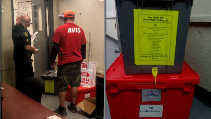 A Democrat Broward County employee with direct ties to Democrat gubernatorial candidate Andrew Gillum appears to have accidentally left a provisional ballot box inside an Avis rental car at Fort Lauderdale Airport, according to reports from Florida.