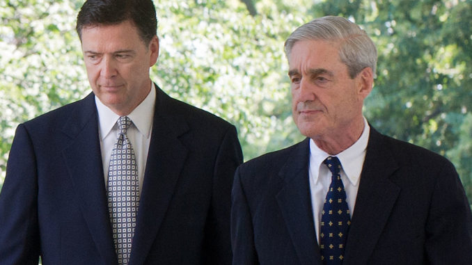 FormerFBI Directors James Comey and Robert Mueller took advantage of their government contacts and security clearances to enrich themselves, according to two leading Government Accountability Institute researchers who have blown the whistle on the widespread corruption endemic at the top of thebureau.