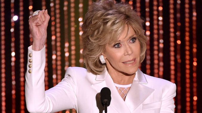 Jane Fonda says she sees parallels between Trump and Hitler