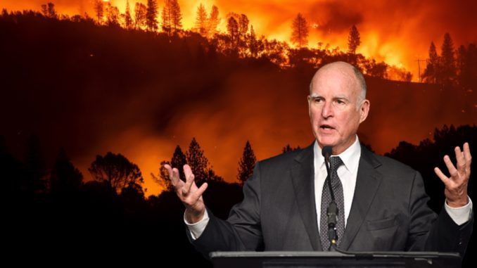 California Gov. Jerry Brown rejected wildfire management bill in 12016