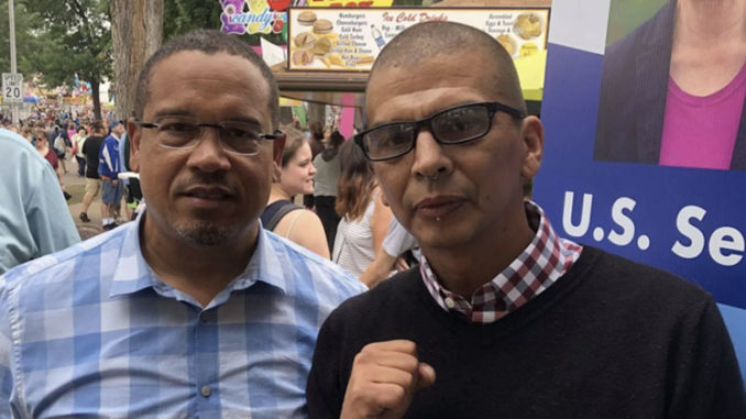 Keith Ellison pictures with extremist Antifa leader