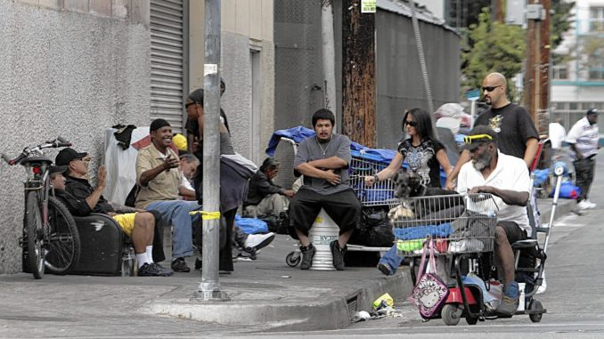Hundreds of skid row homeless people were bribed with cash to vote in the election