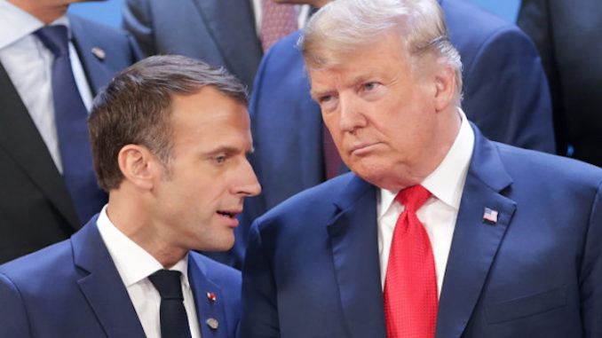 Trump warns Macron that French citizens are uprising and rejecting globalism