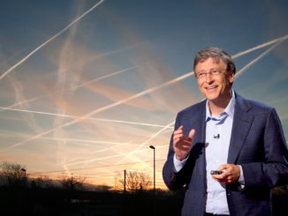 """Bill Gates has announced plans to spray particles into the atmosphere 12 miles above the Earth to """"dim the sun"""" in order to """"stop global warming."""""""