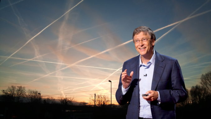 "Bill Gates has announced plans to spray particles into the atmosphere 12 miles above the Earth to ""dim the sun"" in order to ""stop global warming."""