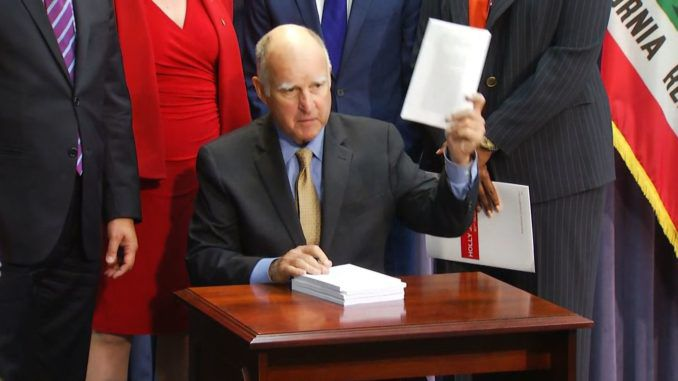 "California Gov. Jerry Brown quietly signed legislation two years ago that legalized the dubious practice of ""ballot-harvesting"" in California, paving the way for Democrats to ""find"" hundreds of thousands of votes after election day and ""legally"" flip long-held conservative seats."