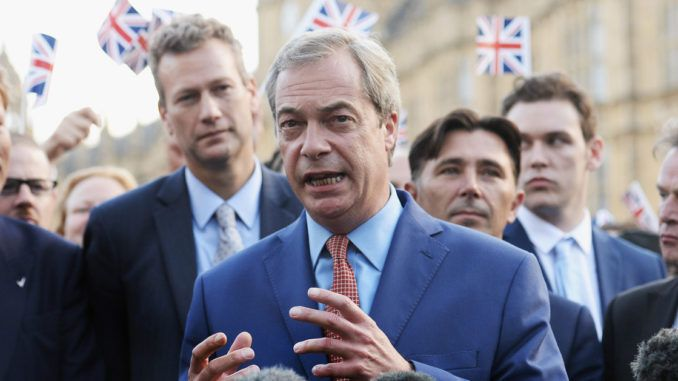 Nigel Farage says Brexit and Trump threaten the New World Order