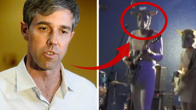 Beto O'Rourke caught wearing satanic goat costume on stage