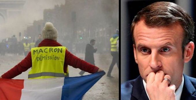 Emmanuel Macron threatens to impose martial law to thwart French revolution
