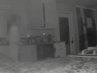 Moms security camera detects ghost of dead son