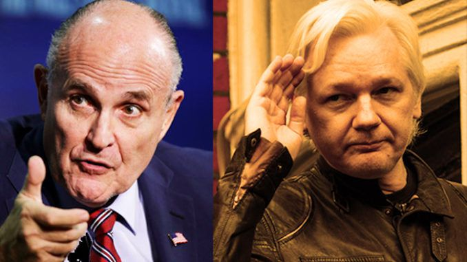 Giuliani calls for Assange to be set free