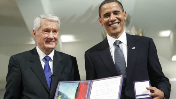 Nobel prize chief admits he deeply regrets giving award to Obama