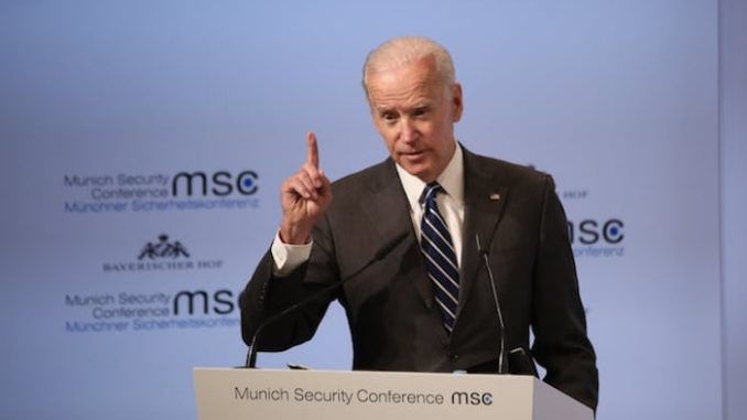 Joe Biden says America is an embarrassment to the world